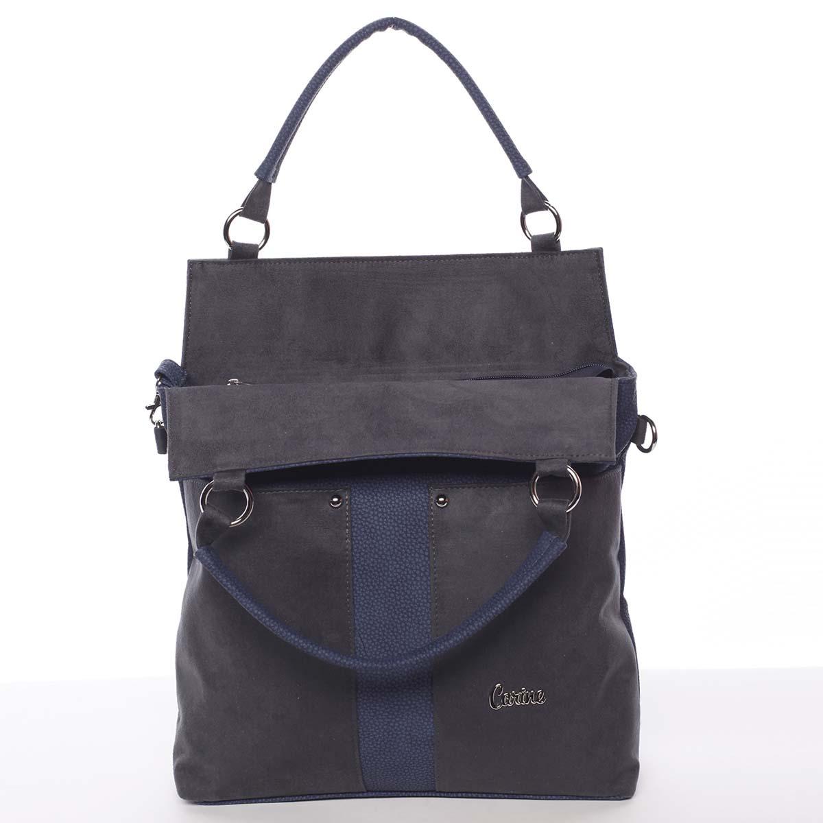 Jedinečná měkká tmavě modrá kabelka - Carine Aletha