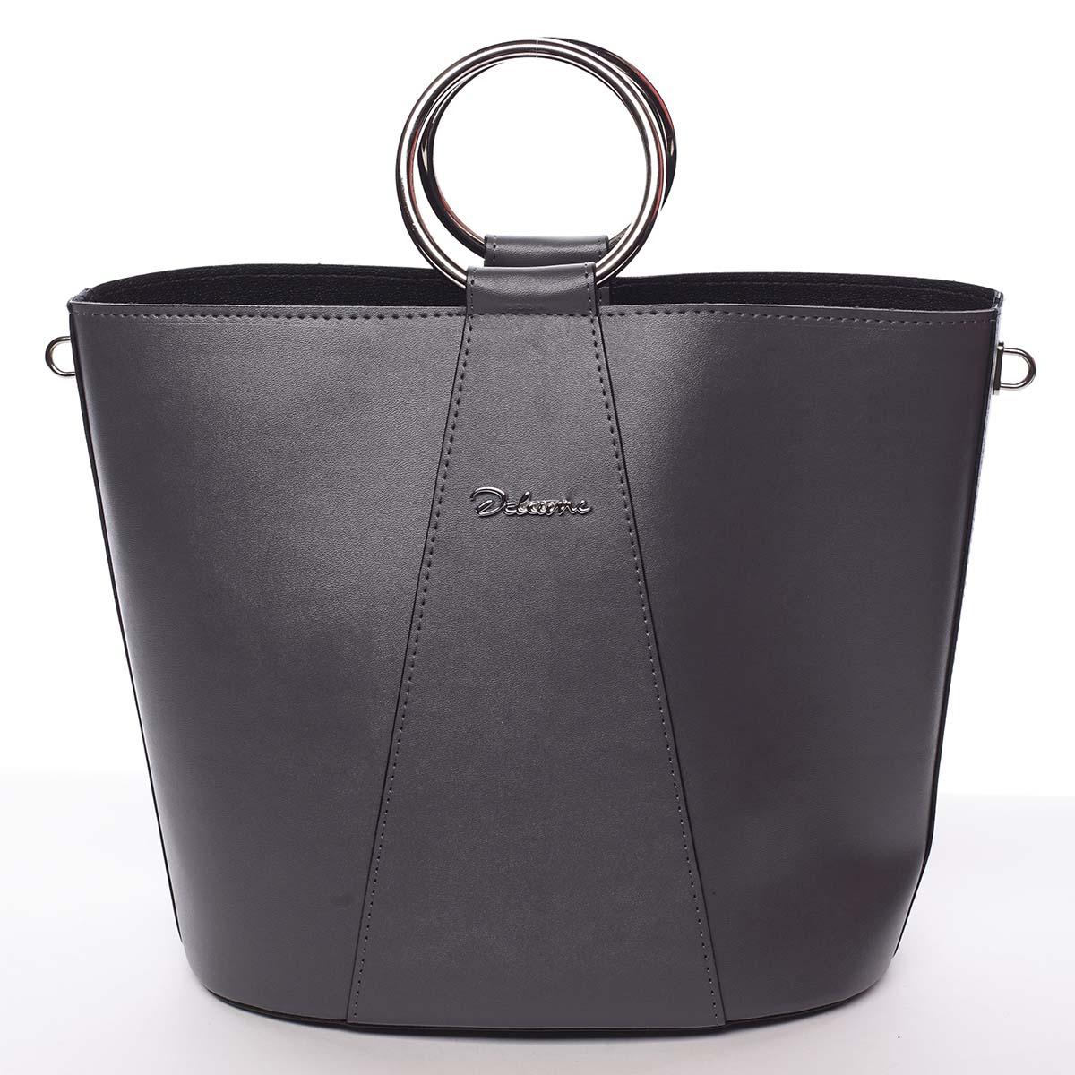 Nadčasová dámská kabelka s organizérem šedá - Delami Karsyn