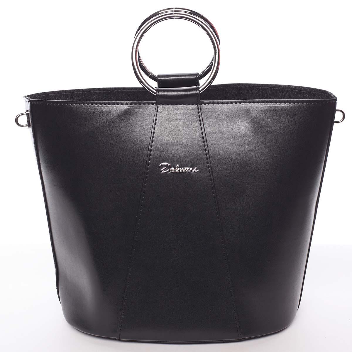 Nadčasová dámská kabelka s organizérem černá - Delami Karsyn