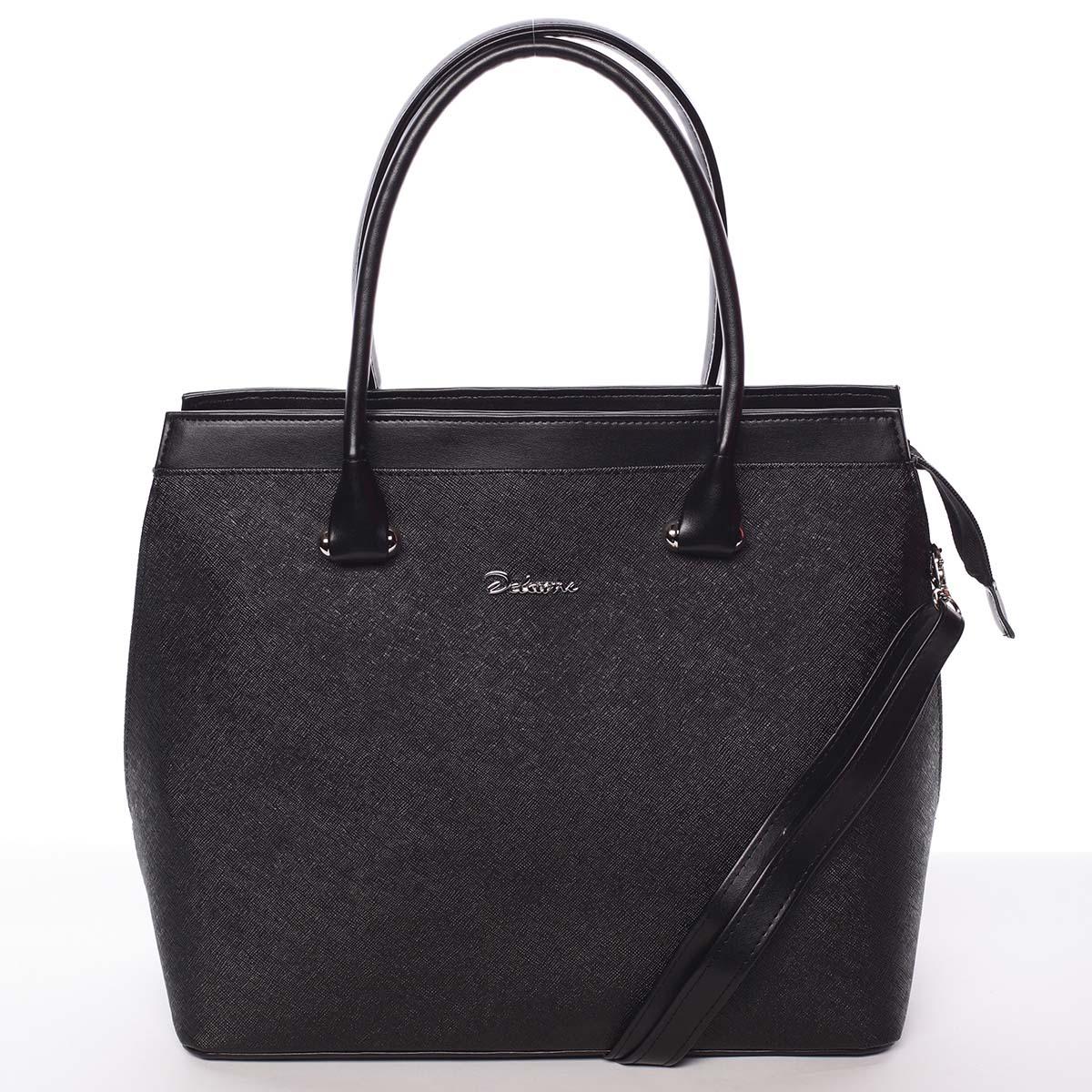 Dámská kabelka černá saffiano - Delami Tatiana