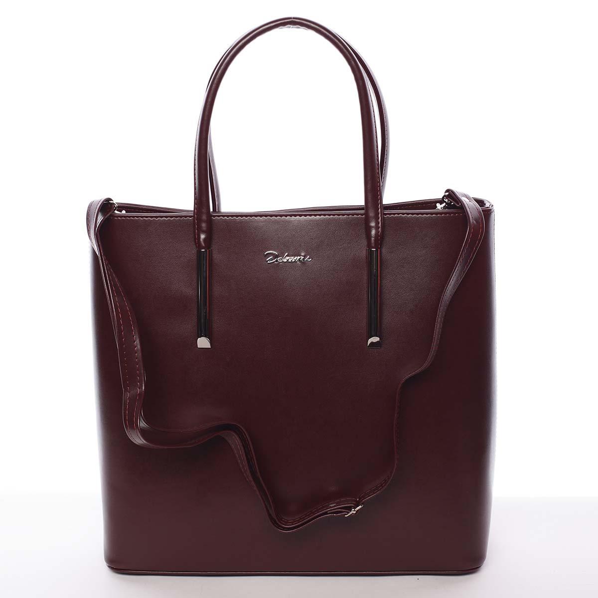 Dámská luxusní kabelka vínová - Delami Devin