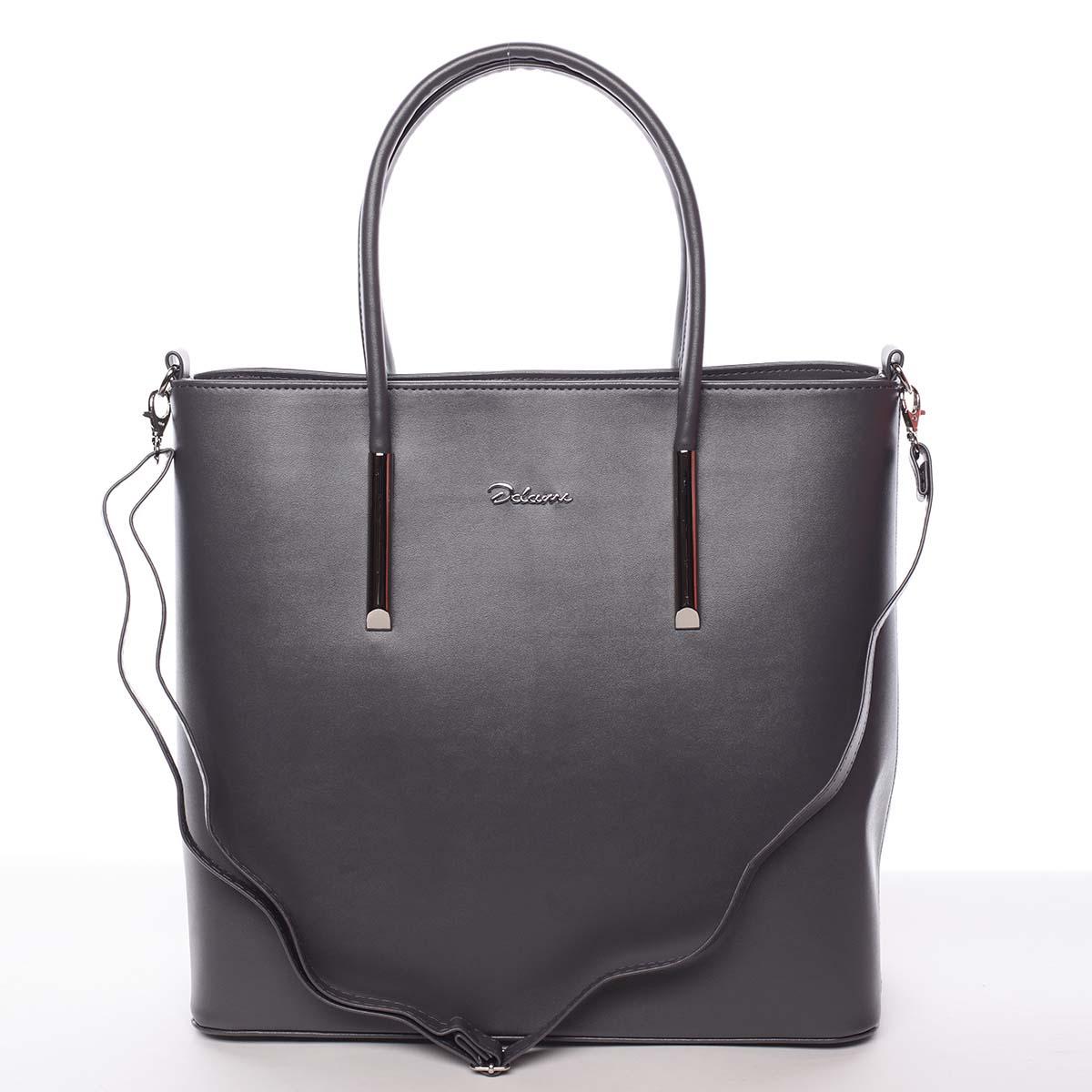 Dámská luxusní kabelka šedá - Delami Devin