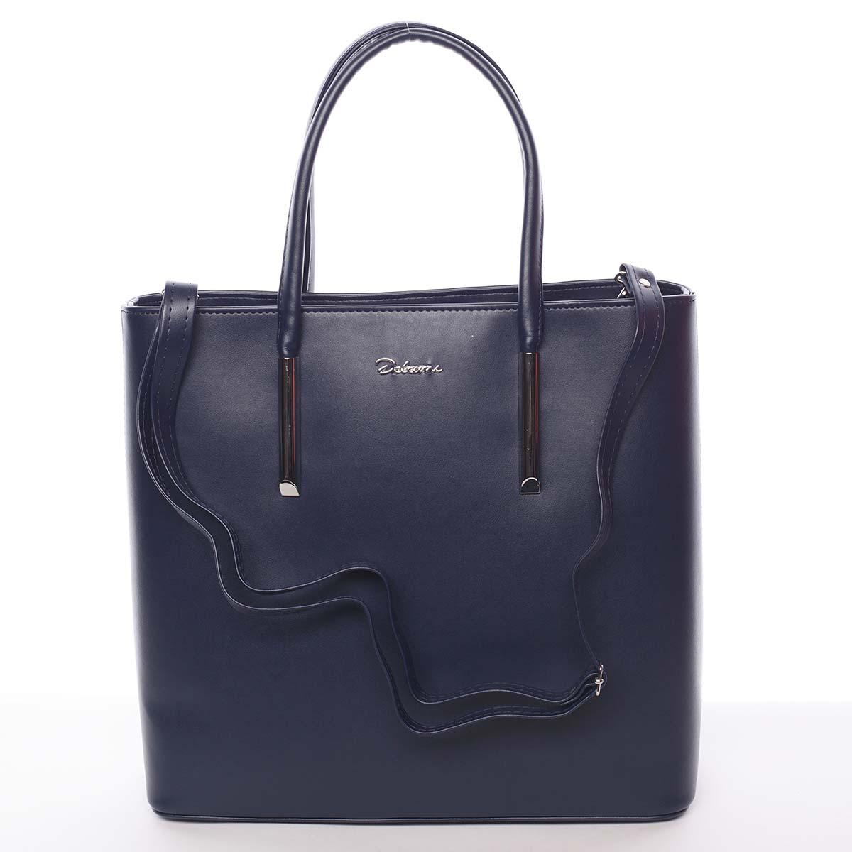 Dámská luxusní kabelka tmavě modrá - Delami Devin