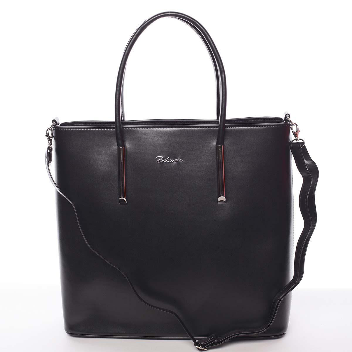 Dámská luxusní kabelka černá - Delami Devin