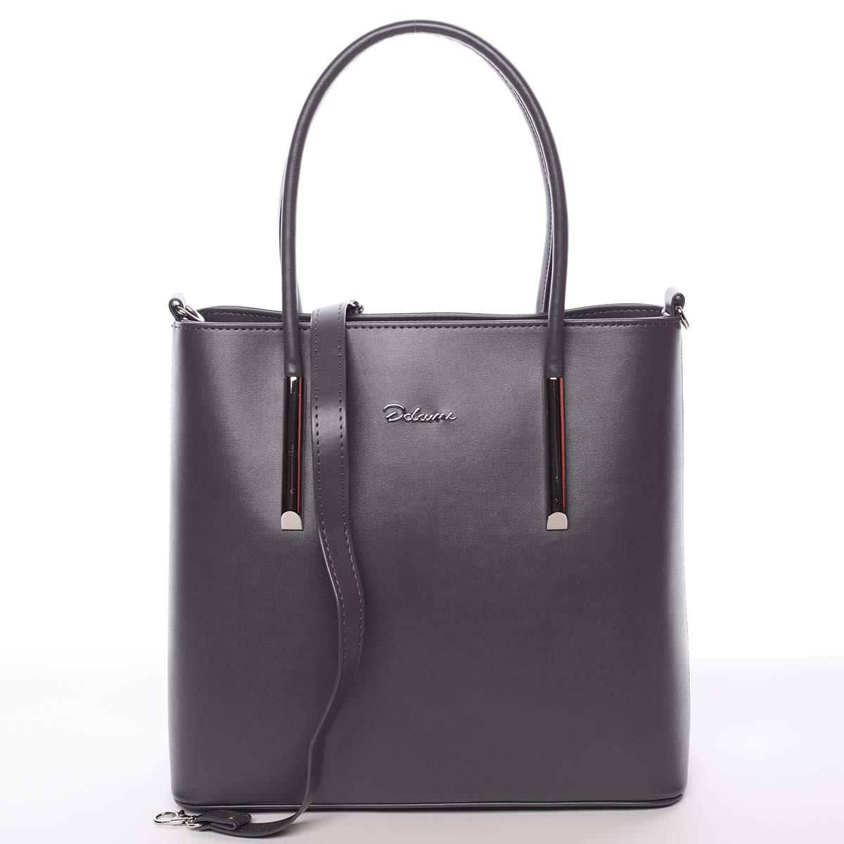 Moderní dámská kabelka do ruky šedá - Delami Bethney