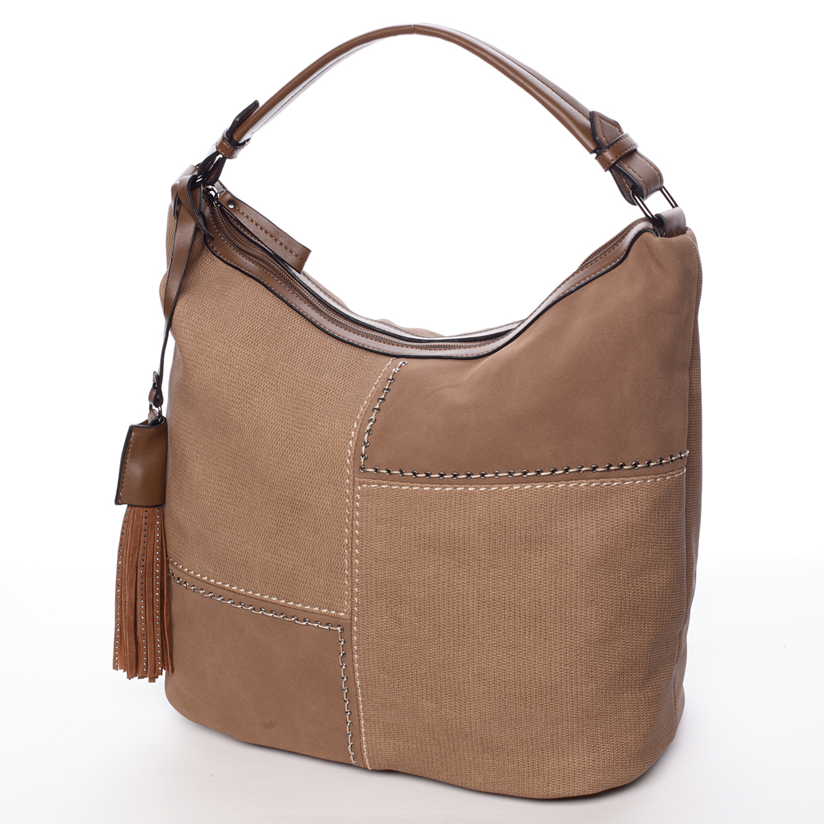 Moderní dámská kabelka světle hnědá - MARIA C Aliza