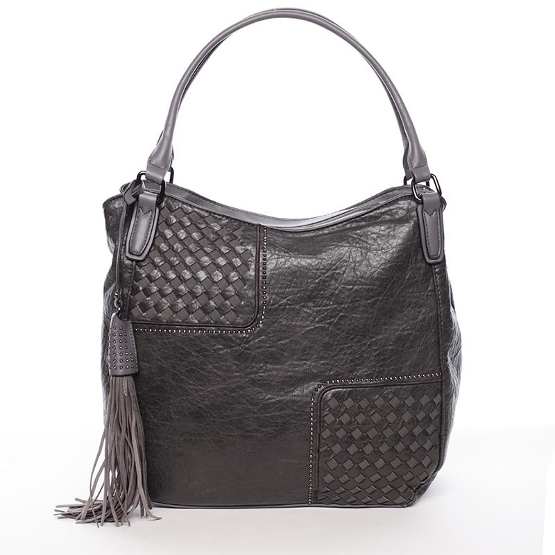 Trendy dámská měkká kabelka šedá - MARIA C Kadence