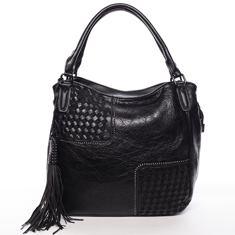 Trendy dámská měkká kabelka černá - MARIA C Kadence