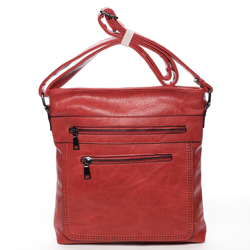 Moderní střední crossbody kabelka červená - Delami Karlie