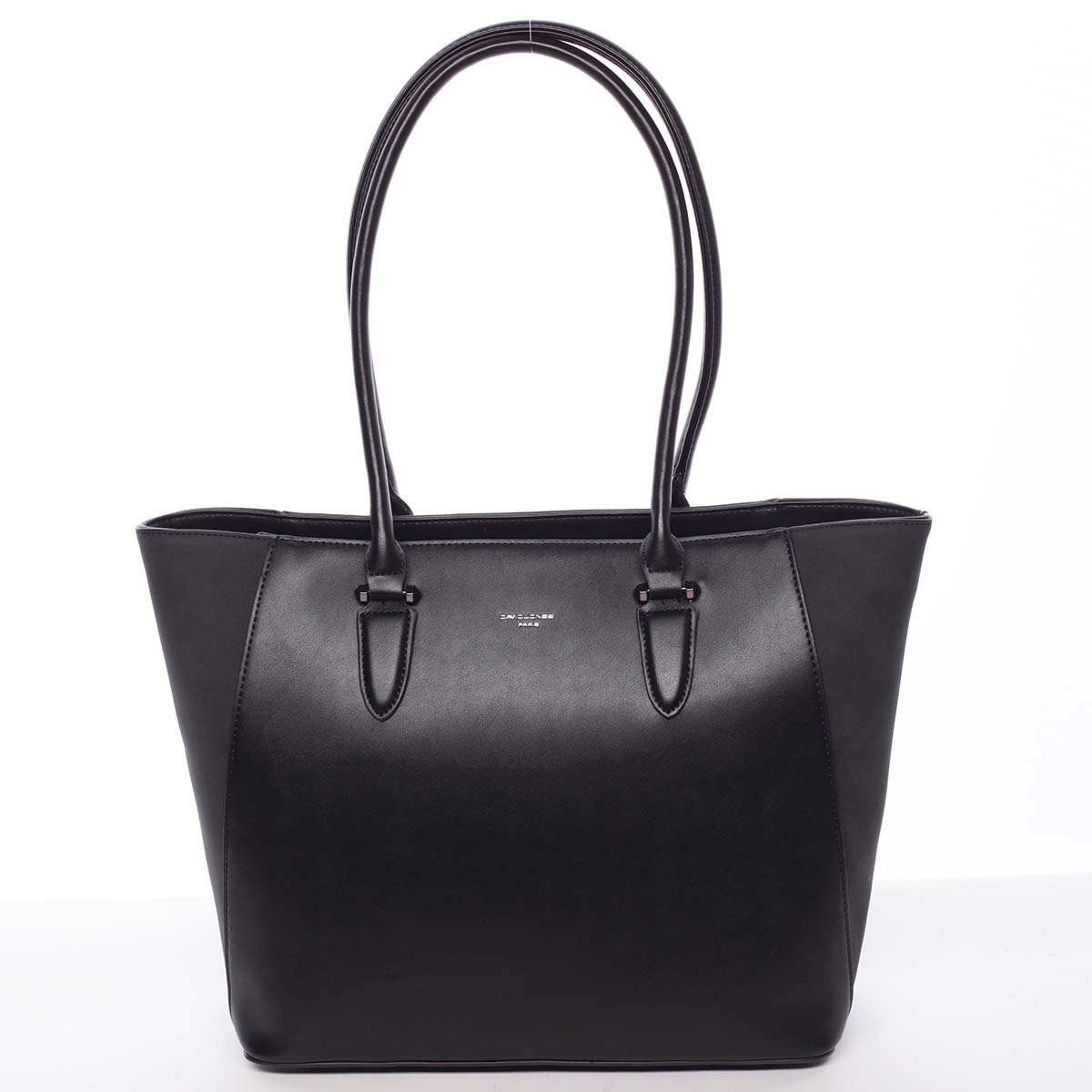 Elegantní dámská černá pevná kabelka - David Jones Anaya