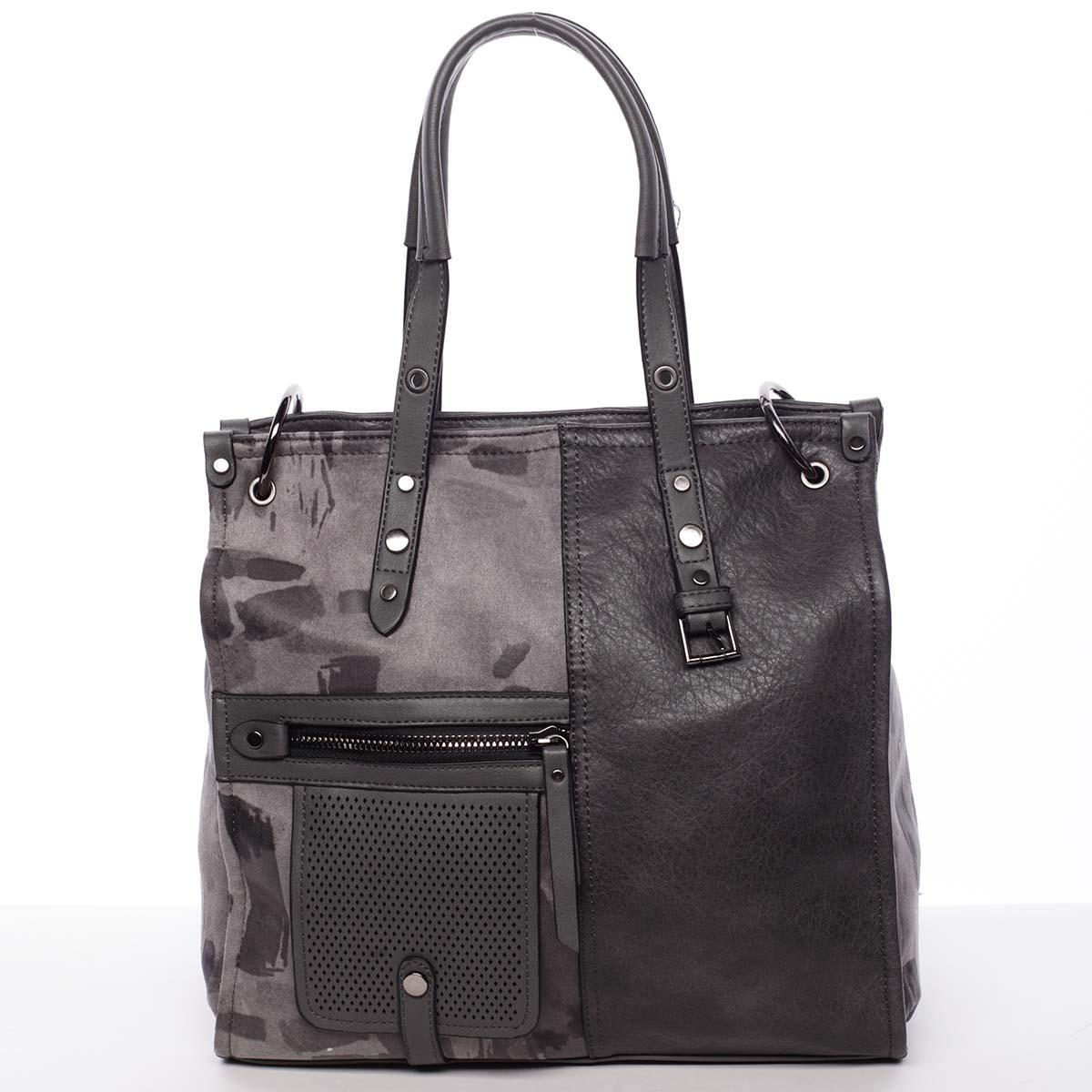 Nadčasová dámská kabelka do ruky šedá - MARIA C Jemma