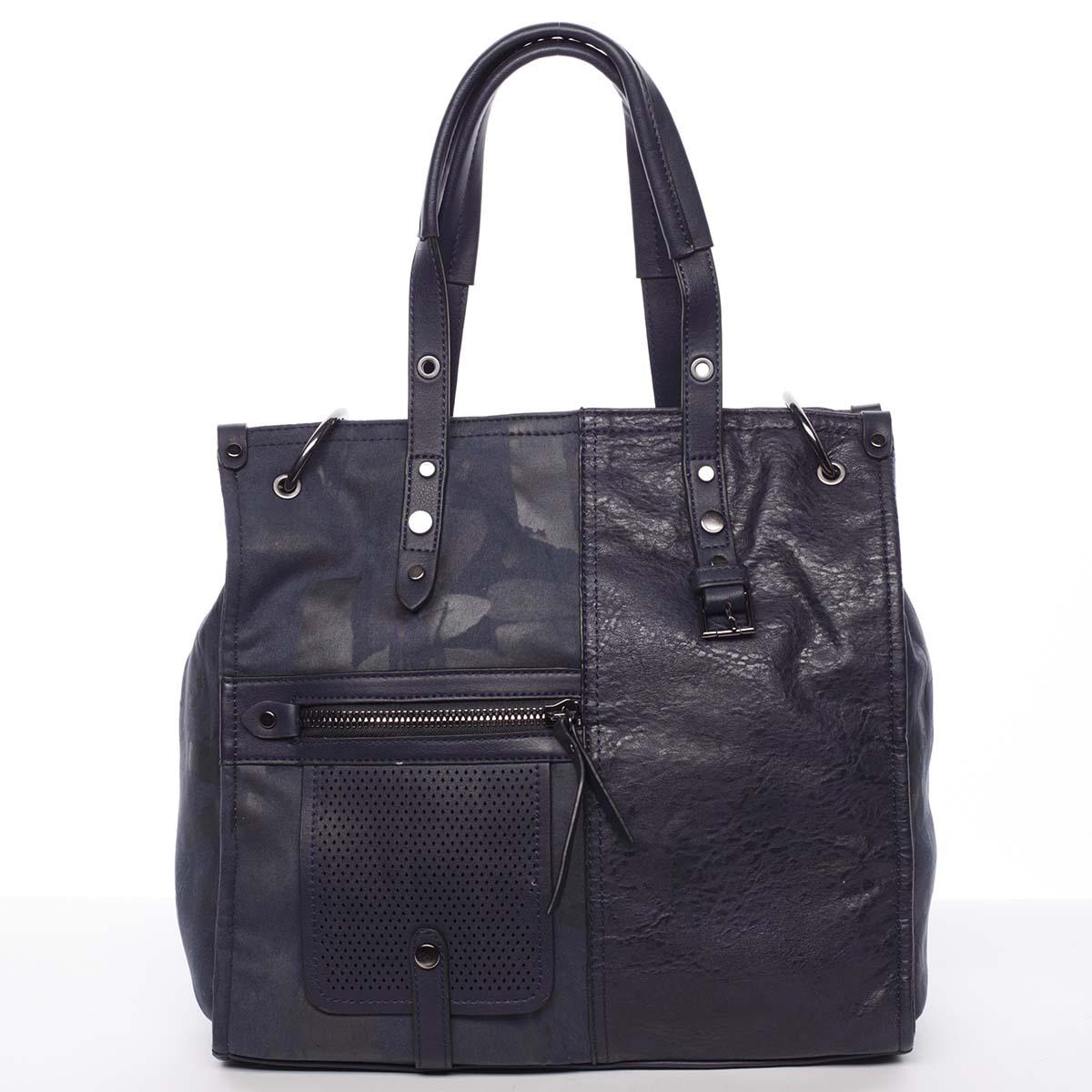 Nadčasová dámská kabelka do ruky modrá - MARIA C Jemma