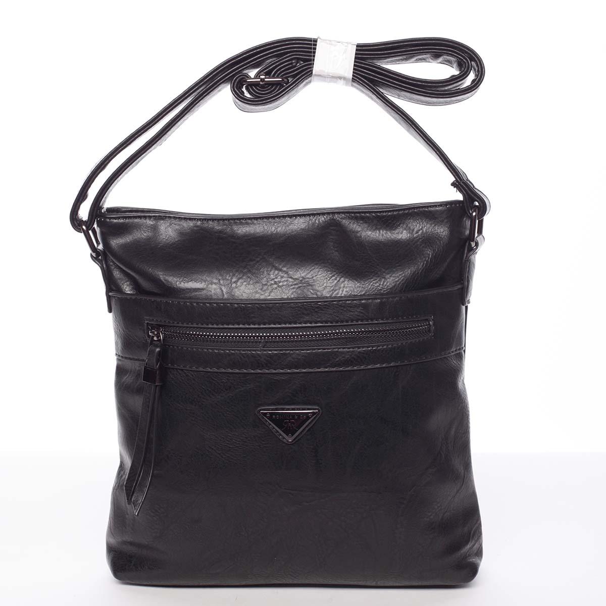 Trendy měkká crossbody kabelka černá - Delami Devyn