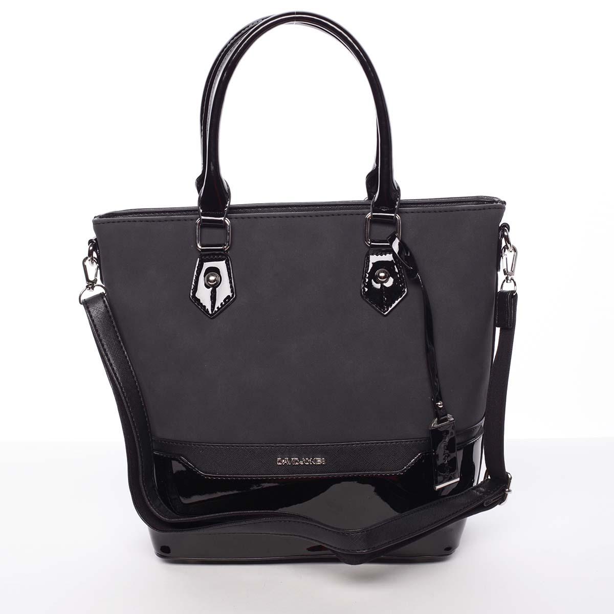 Dámská originální černá kabelka do ruky - David Jones Penthea