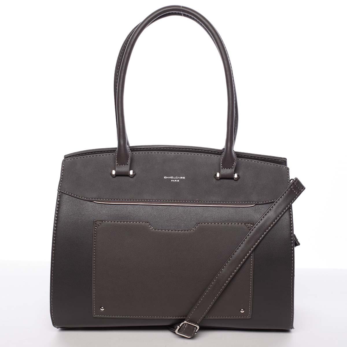 Jedinečná dámská tmavě šedá kabelka - David Jones Hazel