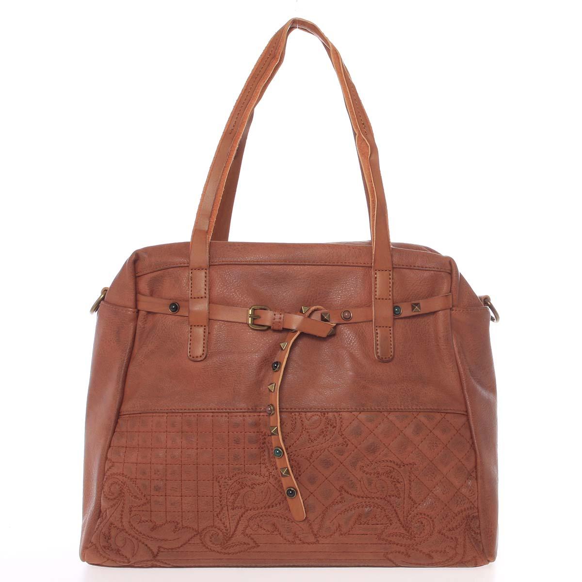 Jedinečná dámská kabelka hnědá - MARIA C Jocelynn