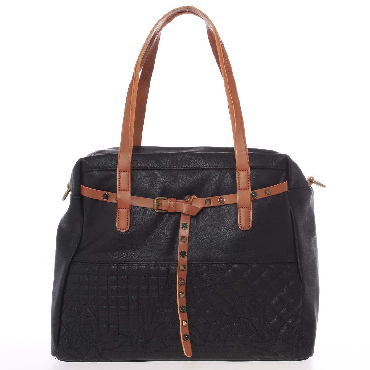 Jedinečná dámská kabelka černá - MARIA C Jocelynn
