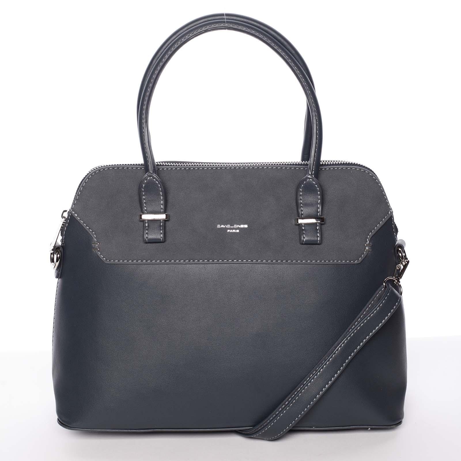 Jemná dámská kabelka do ruky pávově modrá - David Jones Petra