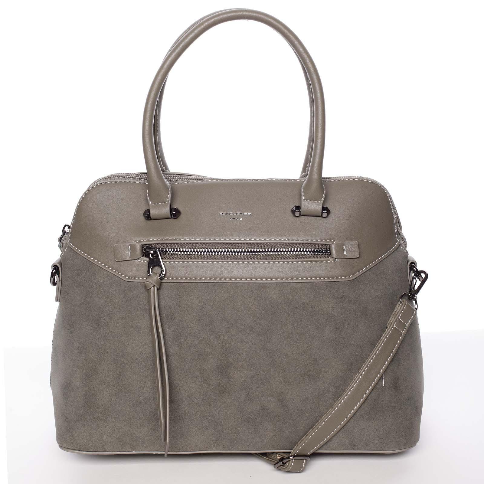 Dámská elegantní hladká khaki kabelka - David Jones Pernella