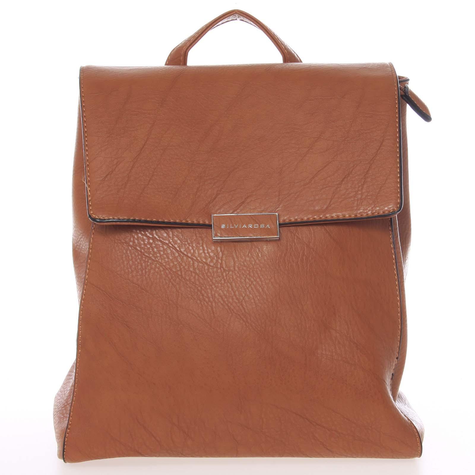 Trendy dámský městský batůžek hnědý - Silvia Rosa Cailyn