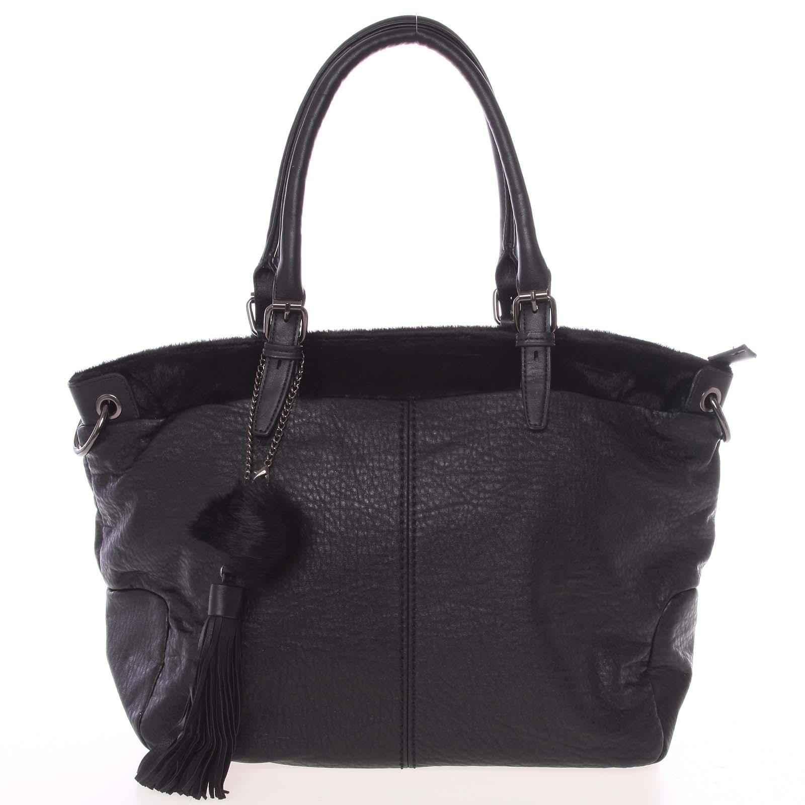 Módní měkká dámská kabelka černá - MARIA C Paige