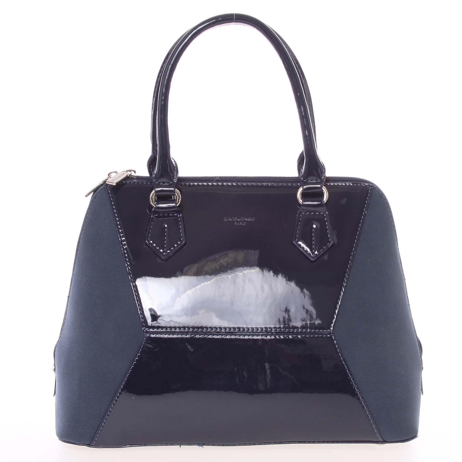 Nadčasová dámská tmavě modrá kabelka do ruky - David Jones Zion