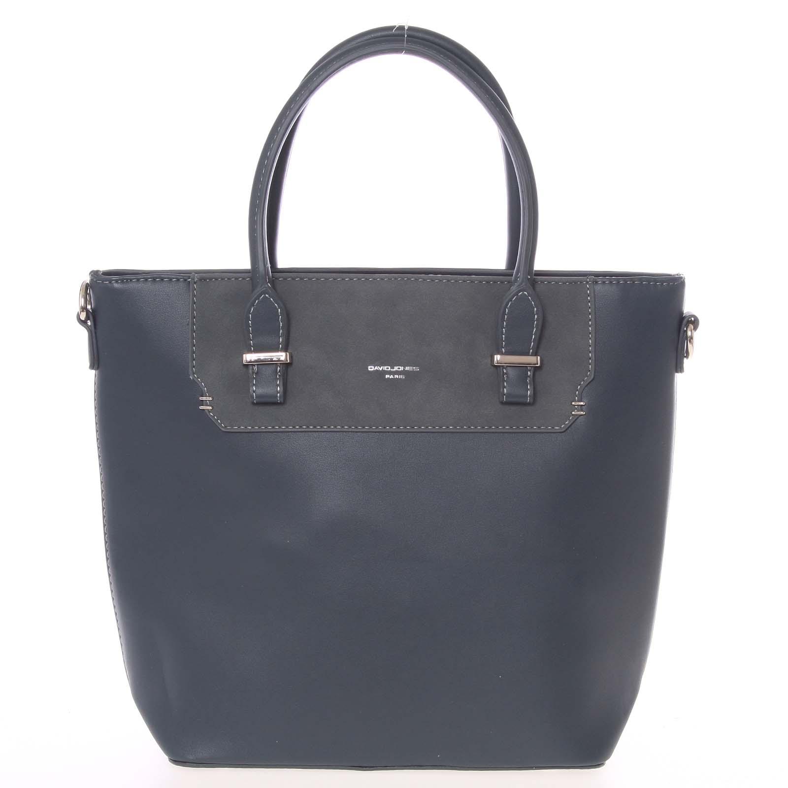 Elegantní švestkově modrá menší kabelka do ruky - David Jones Talia