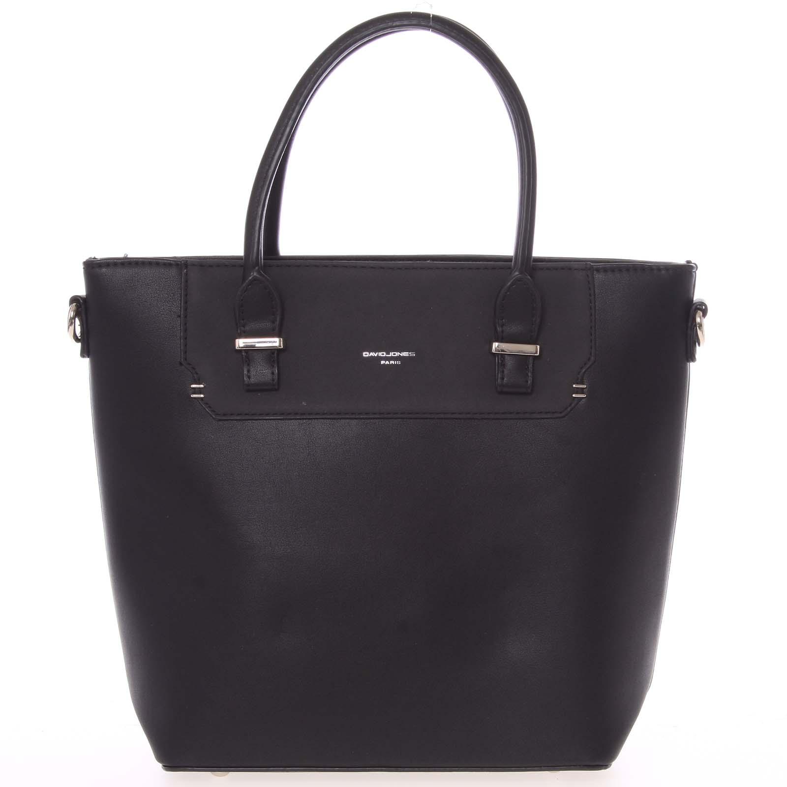 Elegantní černá menší kabelka do ruky - David Jones Talia