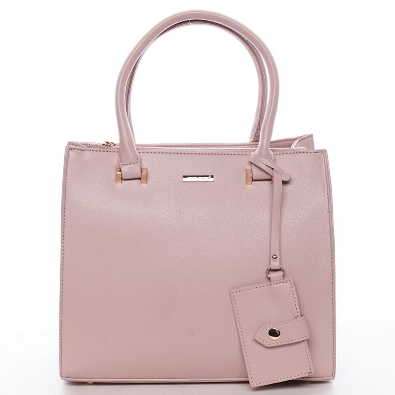 Elegantní dámská kabelka do ruky růžová - David Jones Halette
