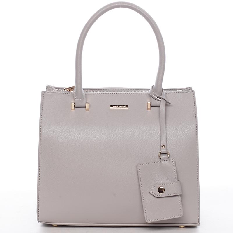 Elegantní dámská kabelka do ruky šedá - David Jones Halette