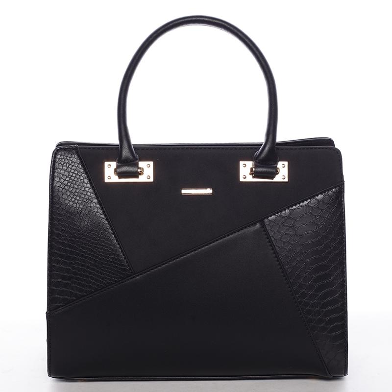 Módní dámská kabelka do ruky černá - David Jones Fealty