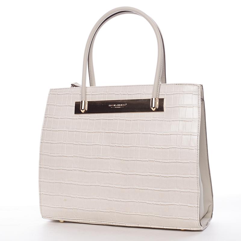 Trendy dámská kabelka do ruky béžová - David Jones Chantelle