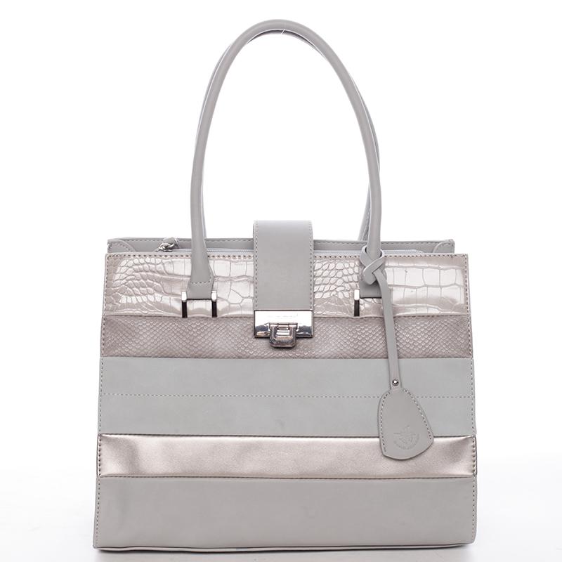 Trendy dámská kabelka do ruky šedá - David Jones Nayomi