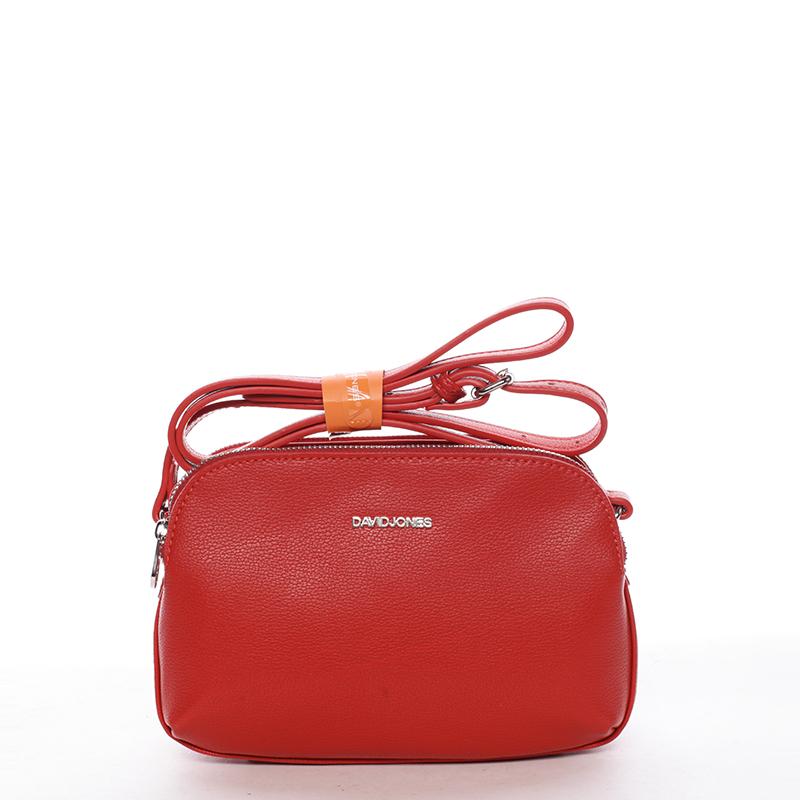 Trendy dámská crossbody kabelka červená - David Jones Esme