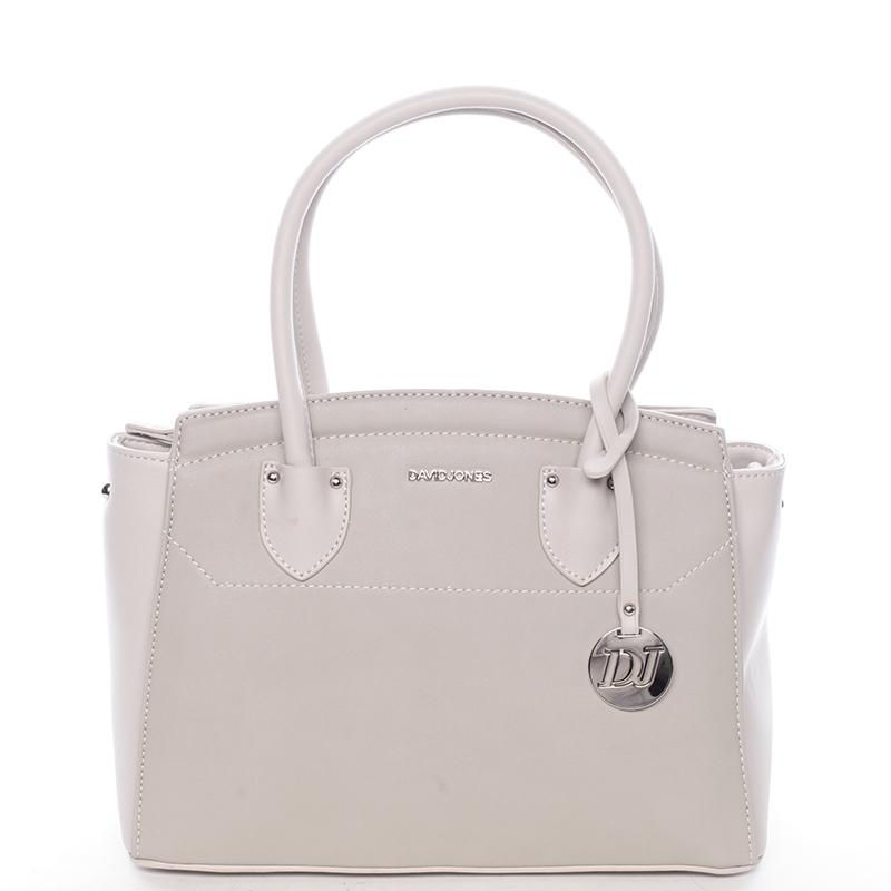Exkluzivní dámská kabelka do ruky šedá - David Jones Mallory