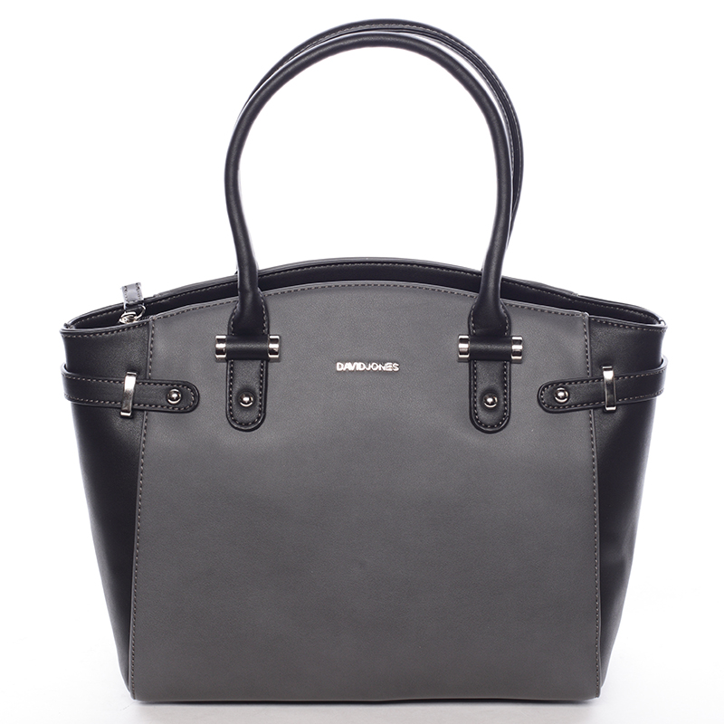 Elegantní dámská kabelka do ruky černo šedá - David Jones Eulalie