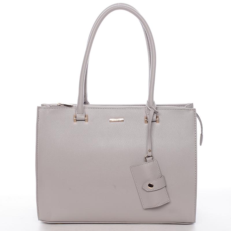 Módní dámská kabelka do ruky šedá - David Jones Aiglentina