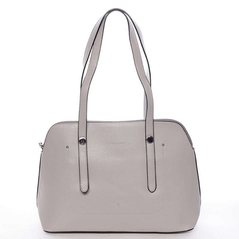 Elegantní dámská kabelka přes rameno šedá - David Jones Robinetta