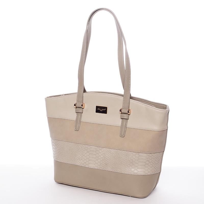 Elegantní dámská kabelka přes rameno taupe - David Jones Maree