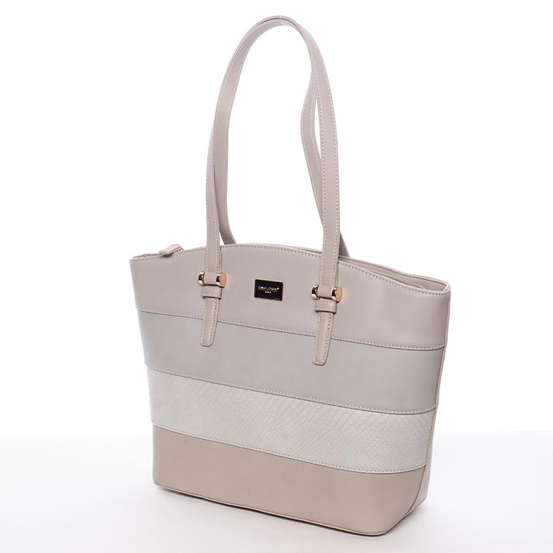 Elegantní dámská kabelka přes rameno šedá - David Jones Maree