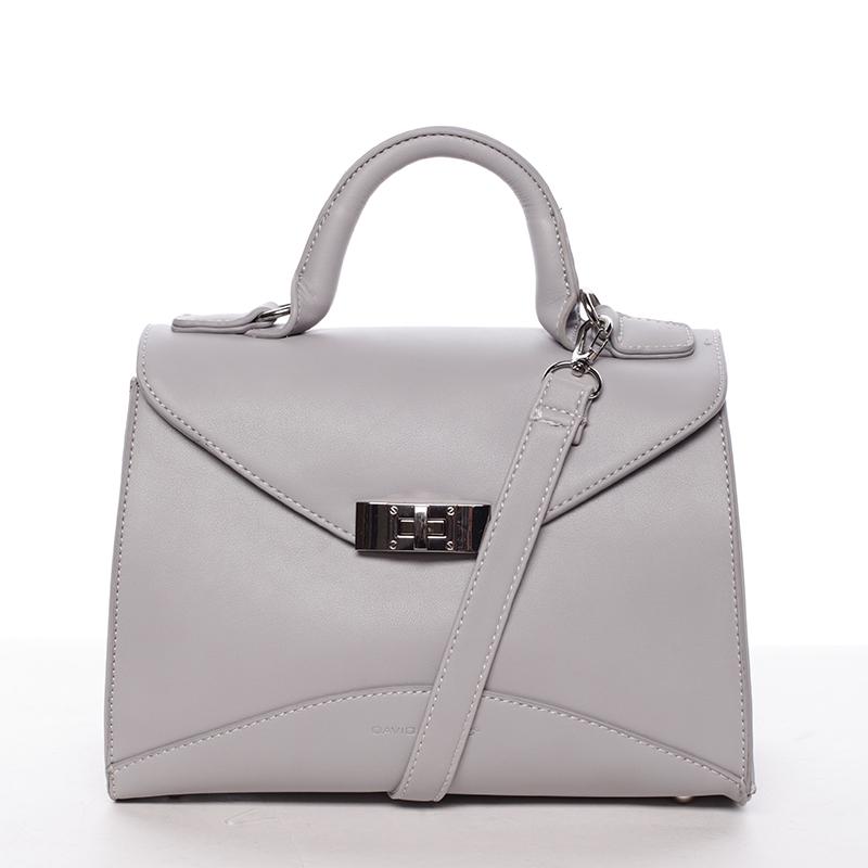 Luxusní dámská kabelka do ruky šedá - David Jones Wakus