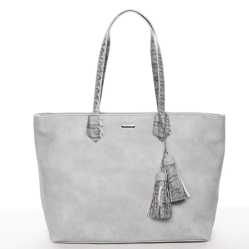 Elegantní dámská kabelka přes rameno bledě modrá - David Jones Trava