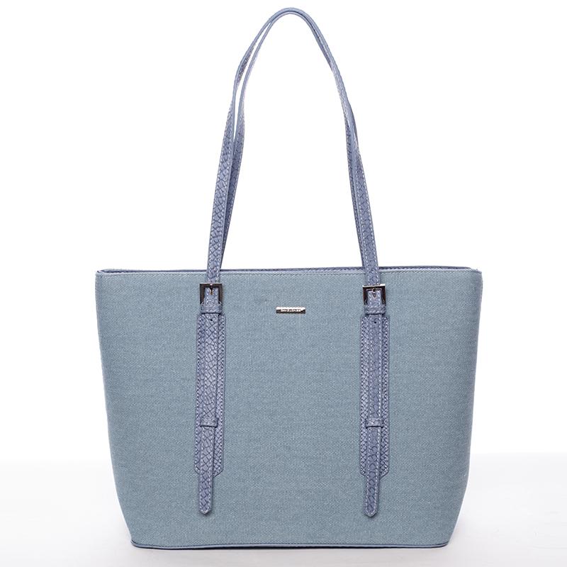 Módní dámská kabelka přes rameno modrá - David Jones TimSeh