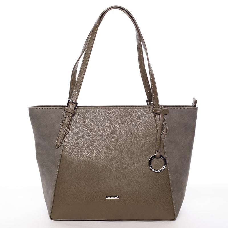 Moderní dámská kabelka přes rameno khaki - David Jones Strap