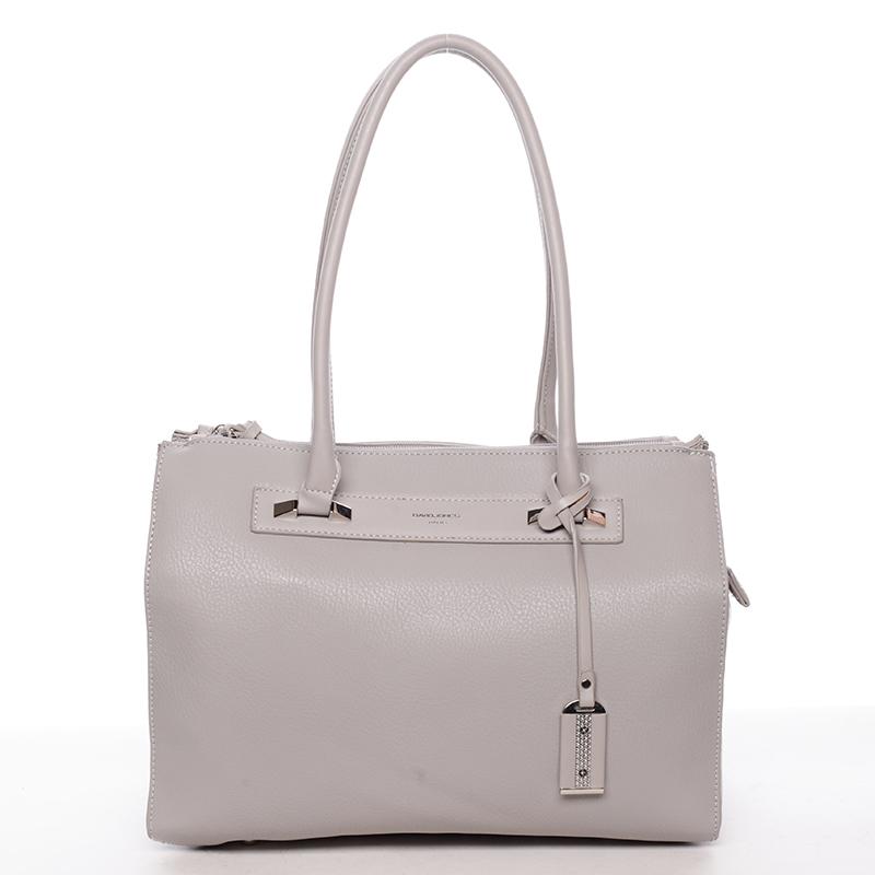 Elegantní dámská kabelka šedá - David Jones Issy