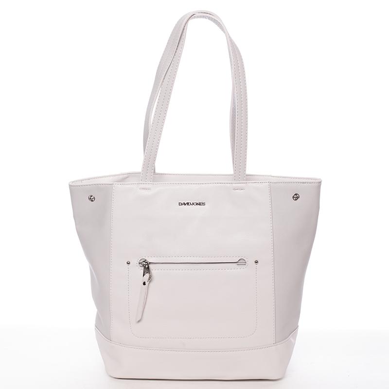 Dámská elegantní kabelka přes rameno krémově šedá - David Jones Dotty