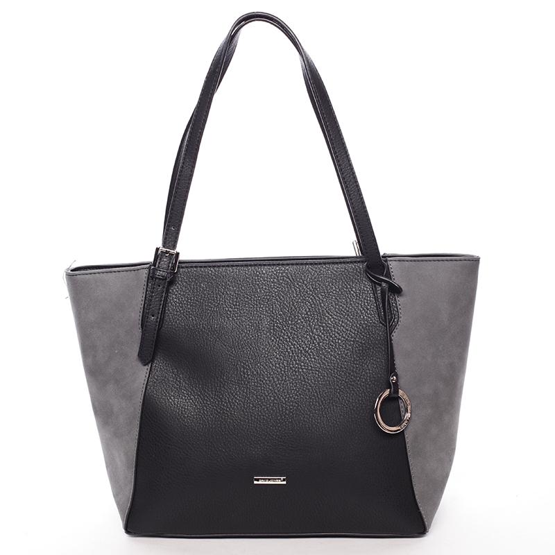 Moderní dámská kabelka přes rameno černá - David Jones Strap