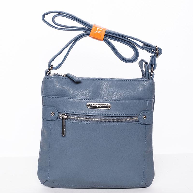 Dámská crossbody kabelka modrá - David Jones Diannah