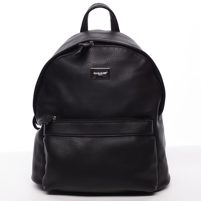 Dámský módní batůžek černý - David Jones Noelle