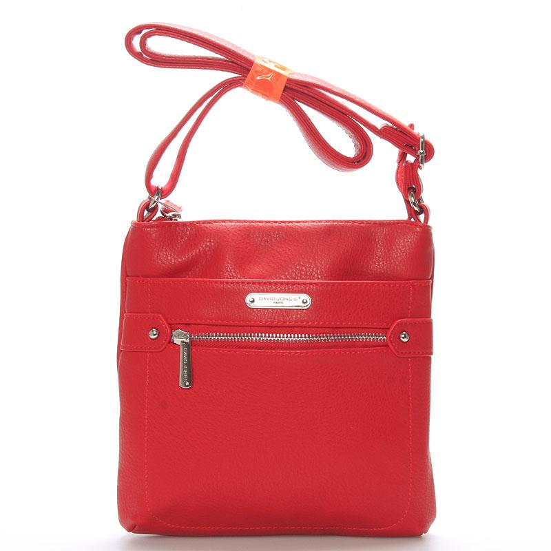 Dámská crossbody kabelka červená - David Jones Diannah